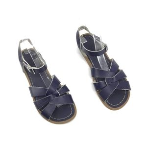 Modcloth leather Salt Water Navy Sandals Size 6